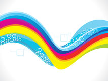 Abstract artistic colorful wave background. Vector illustratioin Stock Illustration