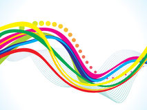 Abstract artistic colorful wave background. Vector illustration stock illustration