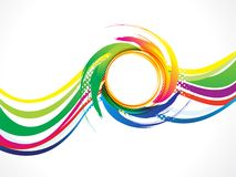 Abstract artistic colorful wave circle. Vector illustration Stock Photo