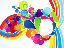 Abstract artistic colorful wave explode. Vector illustration Stock Illustration