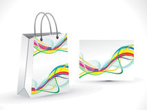 Abstract artistic colorful  wave shopping bag. Illustration Royalty Free Stock Images