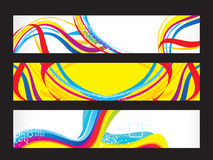 Abstract artistic colorful web banners Royalty Free Stock Photo