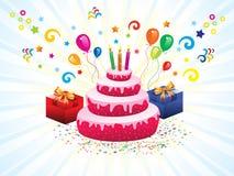 Abstract artistic creative birthday cake. Vector illustration vector illustration