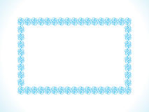 Abstract artistic creative blue border. Vector illustration Stock Images