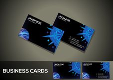 Abstract artistic creative business card. Vector illustration Royalty Free Stock Photo