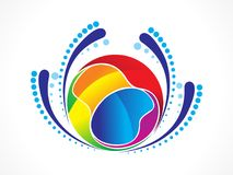 Abstract artistic creative colorful ball. Vector illustration vector illustration
