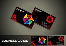 Abstract artistic creative colorful business card. Vector illustration Royalty Free Stock Images