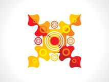 Abstract artistic creative colorful floral. Vector illustration royalty free illustration