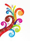 Abstract artistic creative colorful rainbow floral. Vector illustration Royalty Free Stock Photos