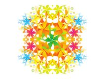 Abstract artistic creative colorful rainbow floral. Vector illustration stock illustration