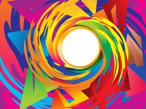 Abstract artistic creative colorful swril background. Vector illustration stock illustration
