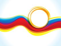 Abstract artistic creative colorful wave circle. Vector illustration Royalty Free Illustration