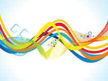 Abstract artistic creative colorful wave. Vector illustration stock illustration