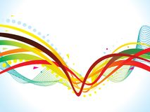 Abstract artistic creative colorful wave. Vector illustration royalty free illustration