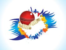 Abstract artistic creative cricket ball explode. Vector illustration Royalty Free Illustration