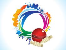 Abstract artistic creative cricket explode. Vector illustration Stock Illustration