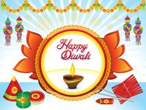 Abstract artistic creative deepawali background. Vector illustration royalty free illustration