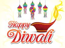 Abstract artistic creative deepawali text. Vector illustration vector illustration
