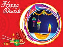 Abstract artistic creative diwali background. Vector illustration royalty free illustration