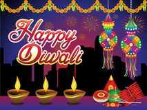 Abstract artistic creative diwali night background. Vector illustration stock illustration
