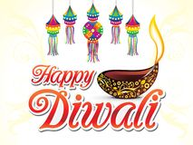 Abstract artistic creative diwali text. Vector illustration royalty free illustration
