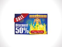 Abstract artistic creative dussehra discount card. Vector illustration royalty free illustration