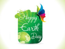 Abstract artistic creative earth day background. Vector illustration Royalty Free Stock Photo