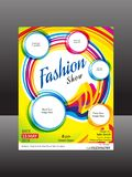 Abstract artistic creative fashion flyer. Vector illustration Stock Photo