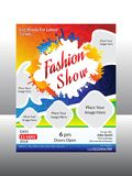 Abstract artistic creative fashion flyer. Vector illustration Royalty Free Stock Photography