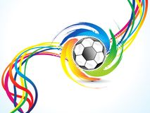 Abstract artistic creative football explode. Vector illustration Royalty Free Stock Photography