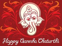 Abstract artistic creative ganesha chaturthi background. Vector illustration stock illustration