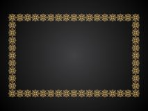 Abstract artistic creative golden border. Vector illustration royalty free illustration