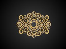Abstract artistic creative golden floral. Vector illustration royalty free illustration