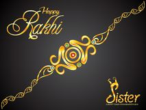Abstract artistic creative golden rakhi. Vector illustration stock illustration