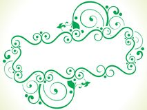 Abstract artistic creative green floral. Vector illustration Stock Image