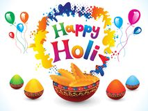 Abstract artistic creative happy holi. Vector illustration Royalty Free Stock Images