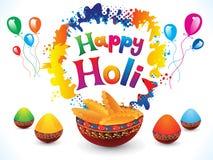 Abstract artistic creative happy holi. Vector illustration vector illustration