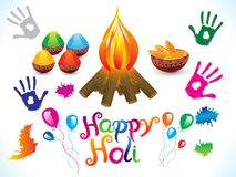 Abstract artistic creative happy holi background. Vector illustration royalty free illustration