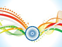 Abstract artistic creative indian flag wave. Vector illustration Royalty Free Stock Photo