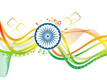 Abstract artistic creative indian wave. Vector illustration stock illustration