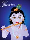 Abstract artistic creative janamashtmi background. Vector illustration royalty free illustration
