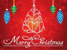 Abstract artistic creative merry christmas background. Vector illustration royalty free illustration