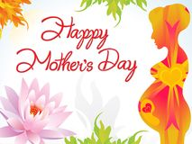 Abstract artistic creative mother day background. Vector illustration Royalty Free Stock Images
