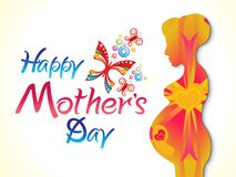 Abstract artistic creative mother`s day background. Vector illustration Stock Photography