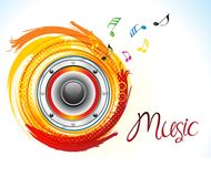 Abstract artistic creative music sound. Vector illustration Vector Illustration