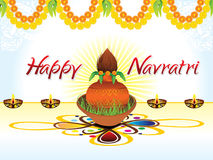 Abstract artistic creative navratri background. Vector illustration Royalty Free Stock Images
