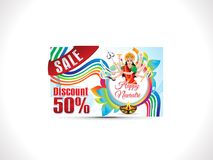 Abstract artistic creative navratri discount card. Illustration vector illustration