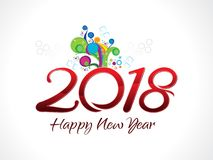 Abstract artistic creative new year text. Vector illustration Stock Photography