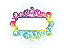 Abstract artistic creative rainbow floral border. Vector illustration vector illustration