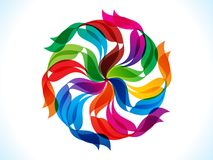 Abstract artistic creative rainbow floral explode. Vector illustration Stock Photos